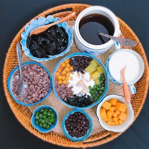 Thường thức món chè khoai dẻo nước cốt dừa