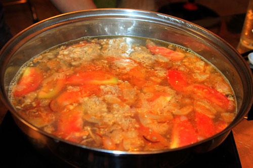 Cách nấu nước lẩu riêu cua bắp bò