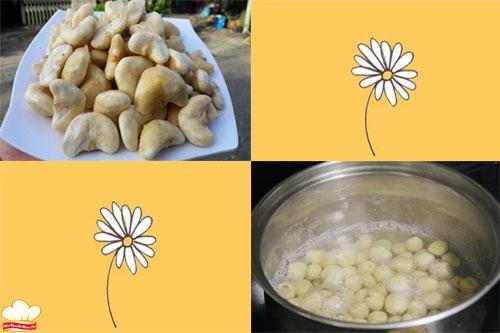 Sơ chế nguyên liệu làm chè củ ấu hạt sen