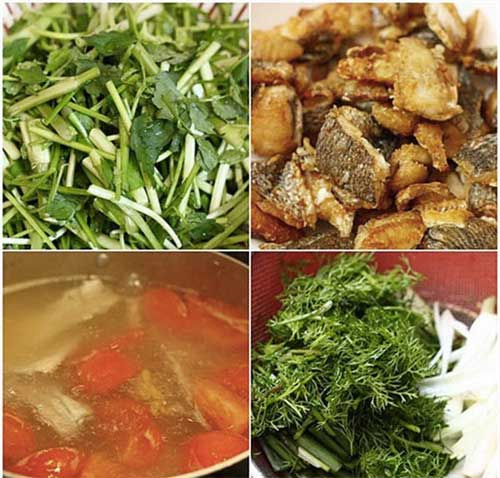 Nguyên liệu nấu miến cá