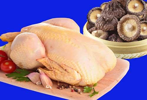 Nguyên liệu nấu canh gà hầm nấm