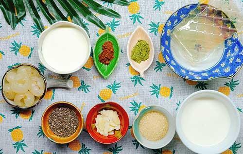 Nguyên liệu nấu chè khúc bạch